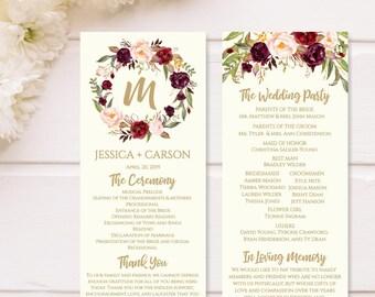 Printable Wedding Programs Download Program Layout Design Thank You Ideas Downloadable Template
