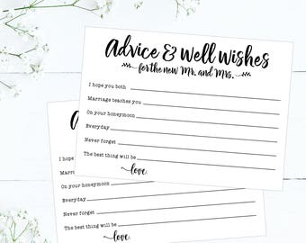photograph relating to Free Printable Bridal Shower Advice Cards referred to as Printable Wedding day Assistance Playing cards Rustic Guidance For The Bride