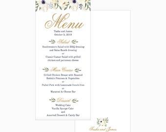 christmas holiday winter wedding party menu template modern etsy