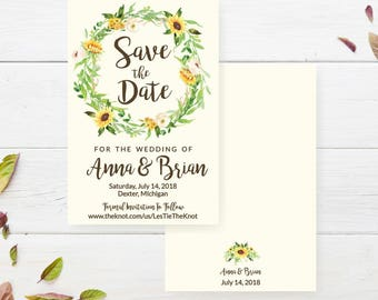 cream save the date etsy