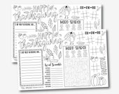 Thanksgiving Coloring Placemats Template - Printable Thanksgiving Placemat, Thanksgiving Kids Table, Kids Activity, Kids Placemat,