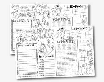 image about Printable Placemats Templates identified as Printable placemats Etsy