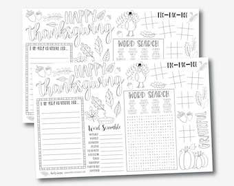 graphic regarding Printable Placemats Templates referred to as Printable placemats Etsy