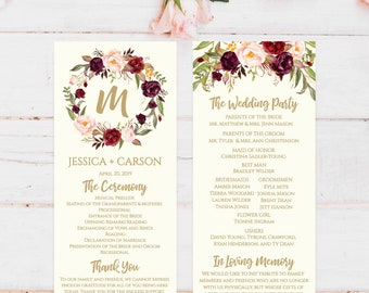 Wedding Program Template Download Thank You Quotes Unique Ideas Ceremony