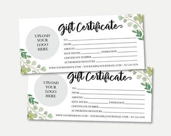 photograph regarding Printable Gift Card named Printable present card Etsy