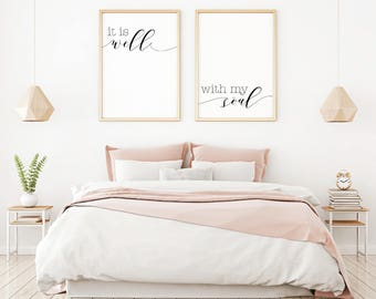 Elegant It Is Well With My Soul Printable Sign Set, Digital Prints Quote, Bedroom  Wall Decor Ideas, Home Decor Rustic, Home Wall Art, Bedroom Sign