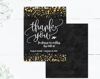 Diy Thank You Card Etsy