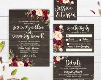 Downloadable Wedding Invitation Etsy