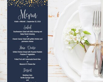 Dinner menu ideas etsy wedding menu printable wedding dinner menu template diy wedding menu ideas menu for wedding wedding menu sign menu template download junglespirit Images
