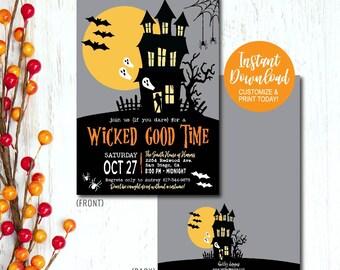 Halloween Invites | Halloween Invite Etsy