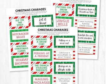 Christmas Charades Etsy