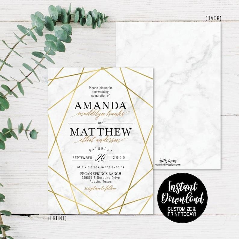 LDS Wedding Invite Template Invitation PDF DIY Invites Suites Packages Invitations Kit Online