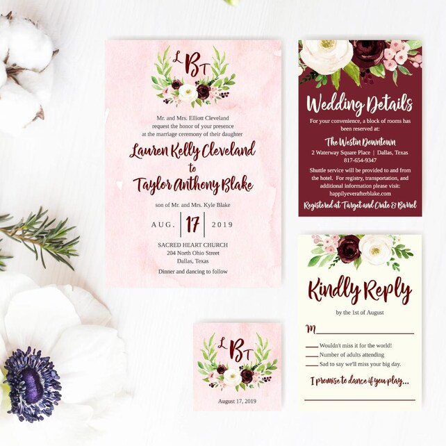 Wedding Invitations With RSVP Cheap Invitation