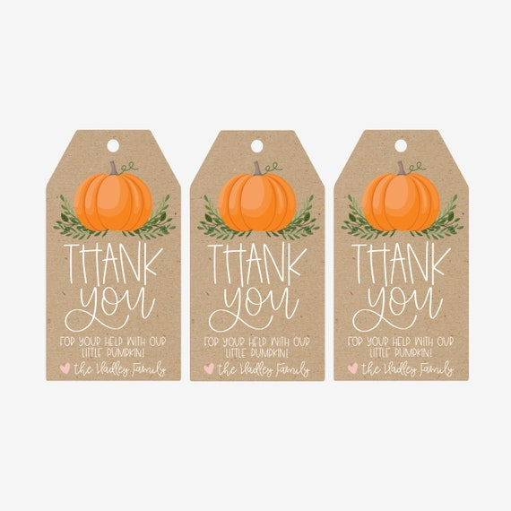 image about Thank You Tag Printable named Thank By yourself Pumpkin Reward Tags Template - Printable Thank On your own Tags Printable Prefer Tags, Printable Reward Tags, Thank On your own Want Tag Template, Do-it-yourself