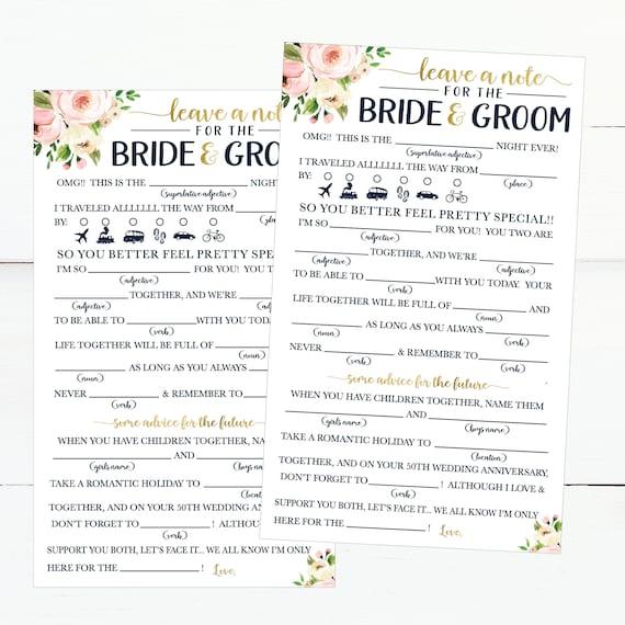Funny Advice Cards For Wedding Reception Cheap Wedding Advice Etsy