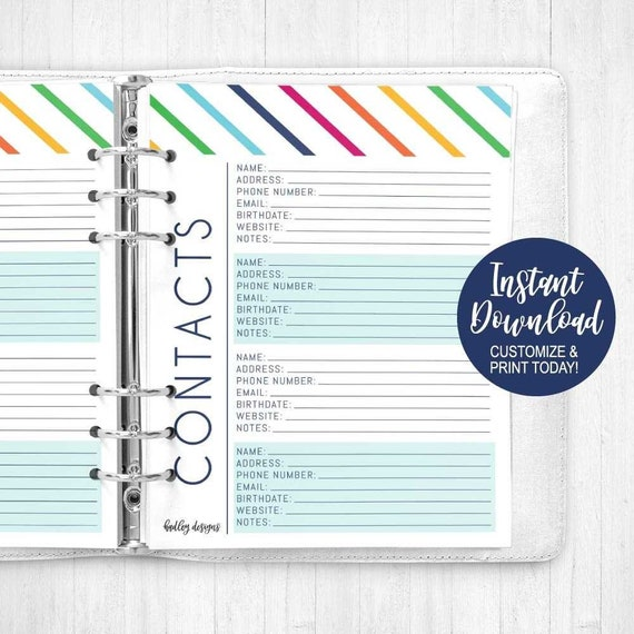 Addresses Mobile Birthday Address Book Small: Mini Organizer and Notebook for Record of Names