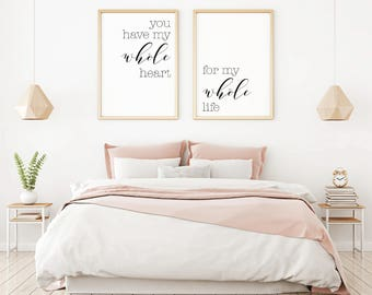Bedroom Wall Decor Ideas, Home Decor Wall Art, Master Bedroom Art,  Minimalist Poster
