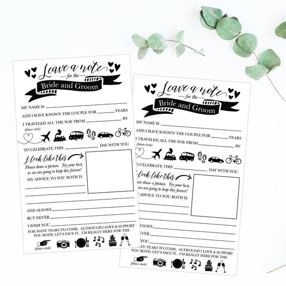 Wedding Mad Lib Printable Wedding Madlibs Funny Wedding Etsy