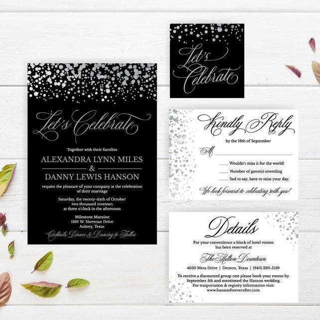 Printable Wedding INVITATION ONLY Floral Invitation PDF Downloadable Invitations Templates Diy