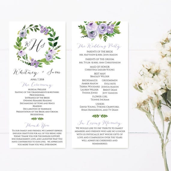 wedding program thank you messages wedding programs online etsy