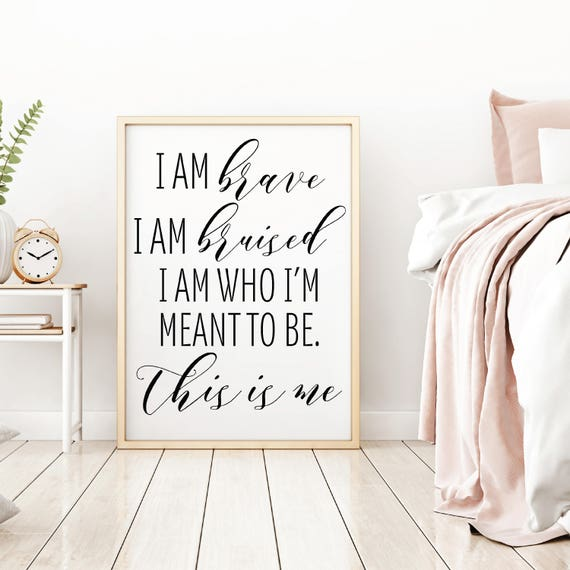 The Greatest Showman Art This Is Me Home Decor Wall Art | Etsy