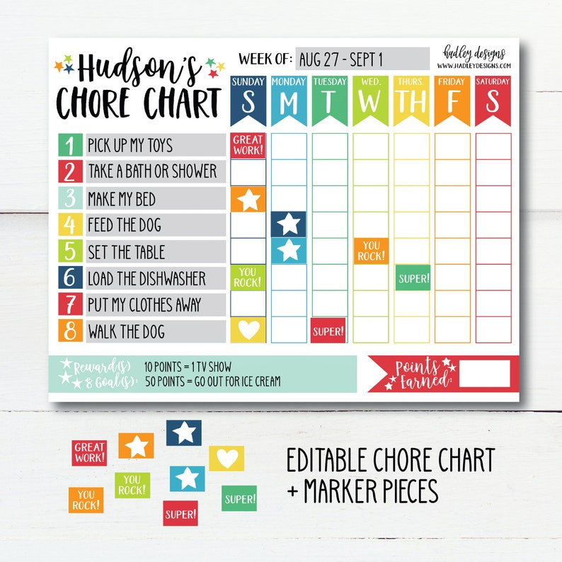 photo regarding Printable Job Chart named Chore Chart Agenda, Personalized Standing Chart, Printable Chore Log, Printable Projects, Small children Endeavor Chart, Electronic Chore Chart, In the direction of Do Listing Printable