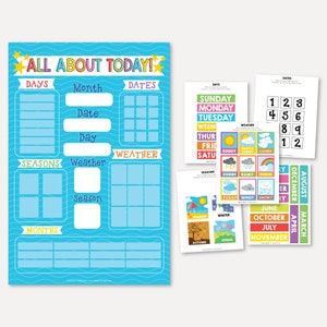 All About Today Printable Circle Time Learning Center Template Preschool Activity Board Focus Morning Board for First Graders Homeschool