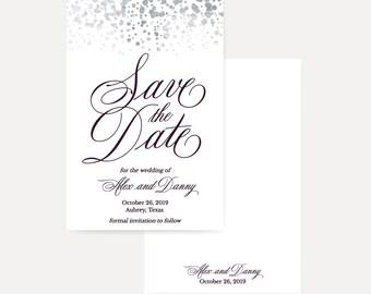 Printable Save The Date Wedding Invitations, Save The Dates Template Printable, Save The Date Cards Email, Save The Dates Online Templates