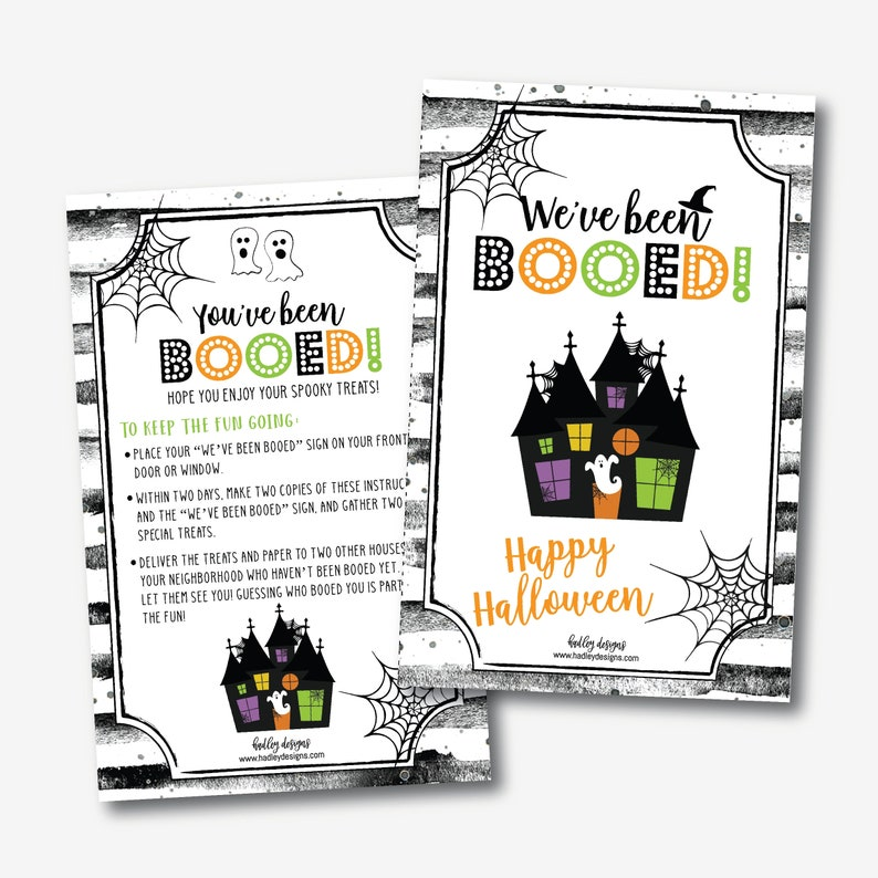 graphic regarding You've Been Booed Printable Pdf named Youve Been Booed Indication Template - Youve Been Booed Halloween Address Indicator, Youve Been Booed Halloween Template, Editable Printable PDF