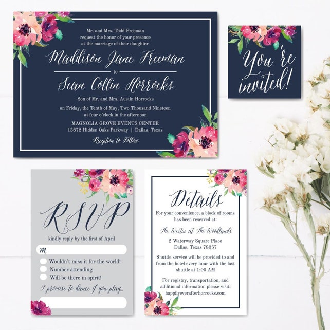 Printable Wedding Invitations Packages Wedding Invitations Sets