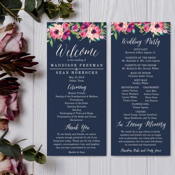 Wedding Program Thank You Messages Wedding Programs Online Template