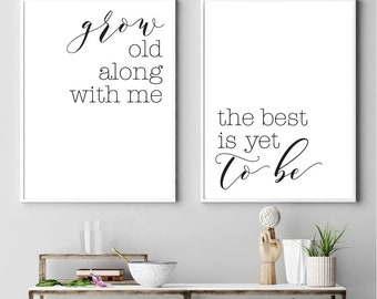 Digital Printable Art, Calligraphy Print Set, Modern Wall Art For Living Room, Home Wall Decor, Wall Art Prints Quotes, Black and White Art