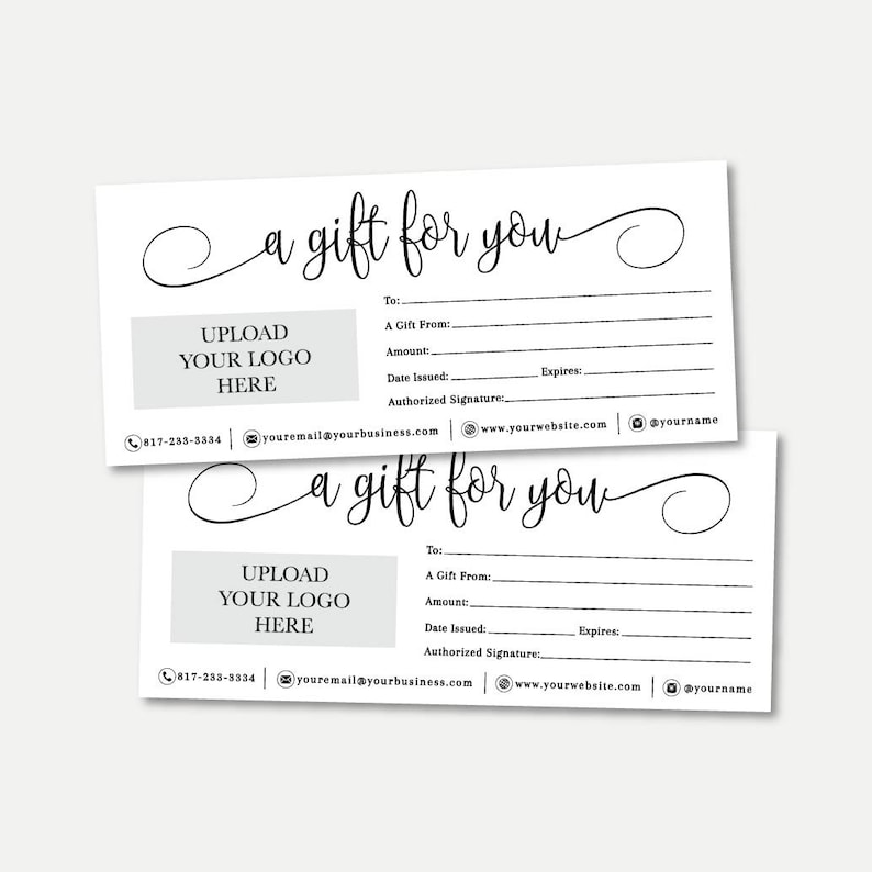 photograph regarding Printable Gift Certificate Template referred to as Straightforward Black and White Script Reward Certification Template -Printable Reward Certification PDF, Printable Reward Card, Reward Certification Template