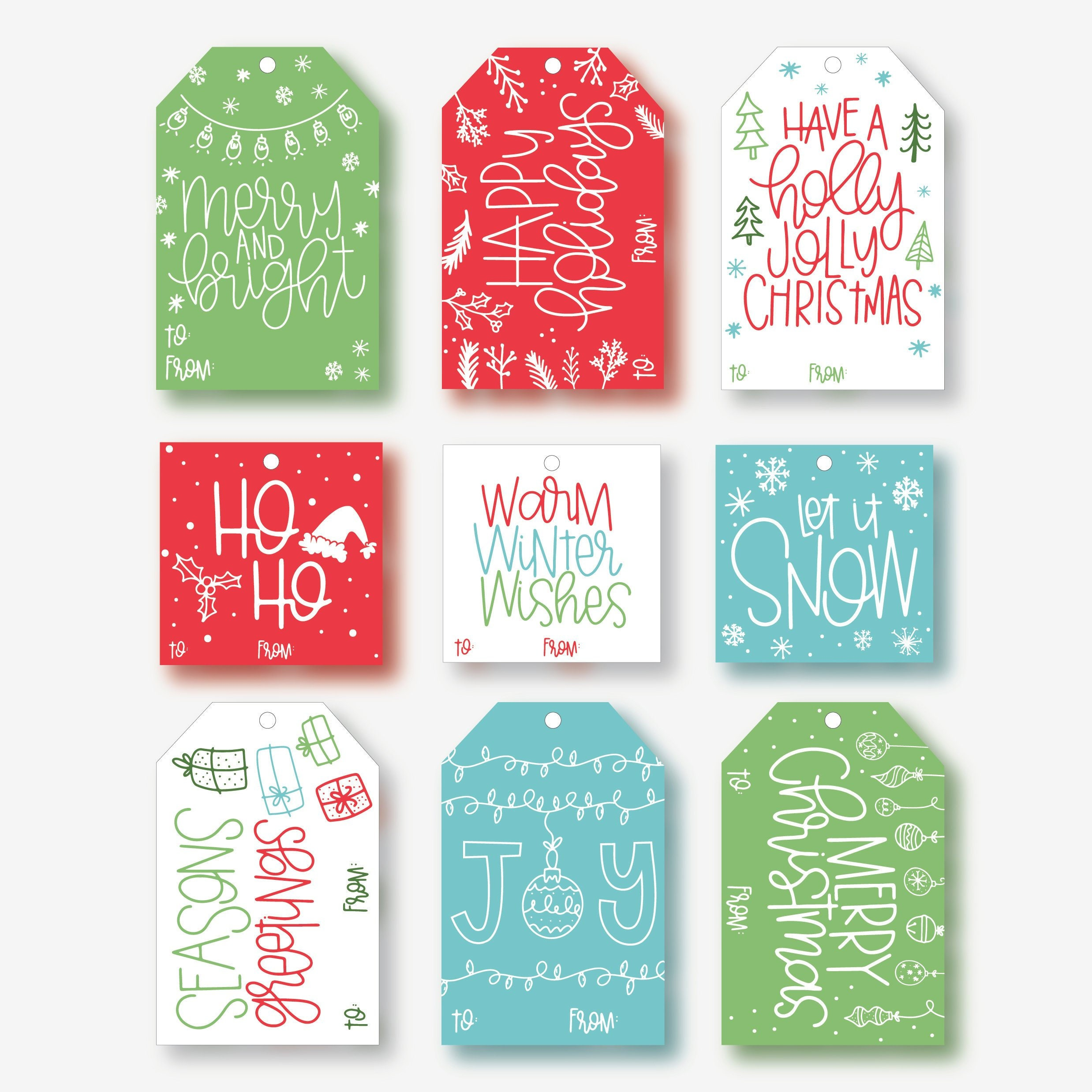 picture regarding Printable Christmas Tags Template named Trip Reward Tags Template - Printable Xmas Tags, Merry Xmas Tags, Dimensional Present Tags, Xmas Display Labels, Christmas Reward Tags