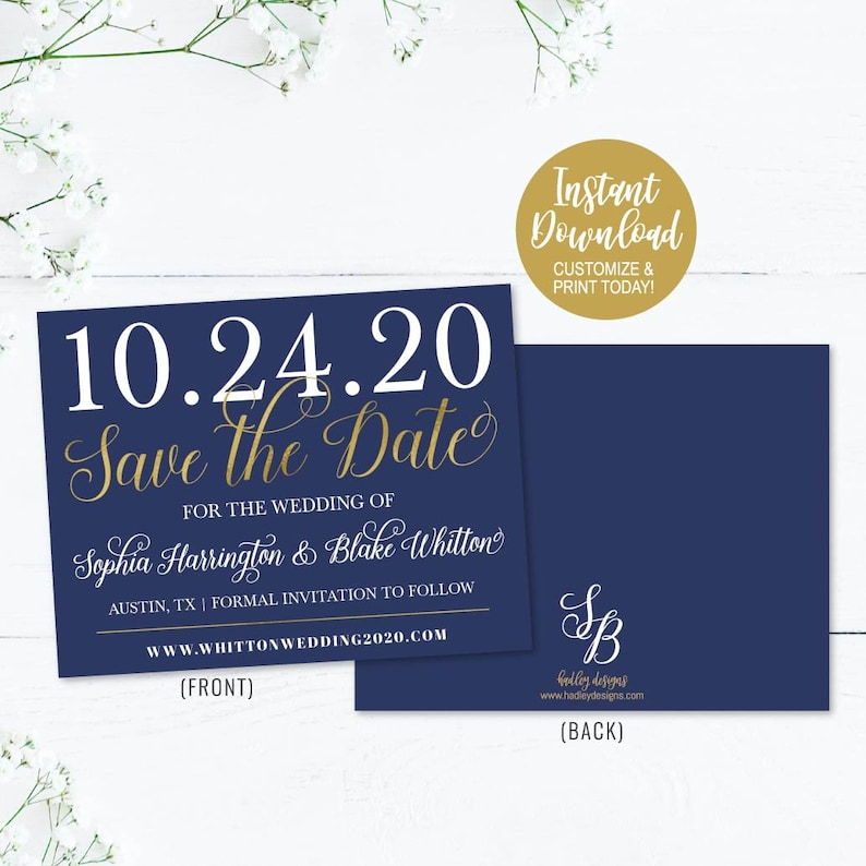 Save The Dates Online Wedding Save The Date Card Printable DIY Wedding Save The Dates Cards Online Save The Date Template Online