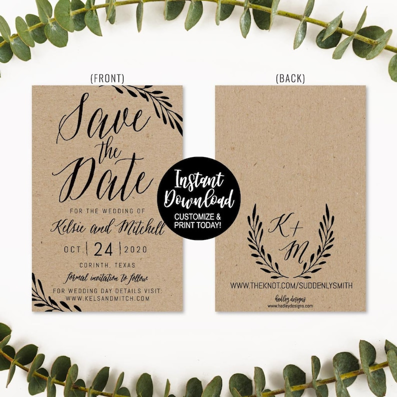 Printable Save The Date Invite Save The Date Cards Wording Etsy