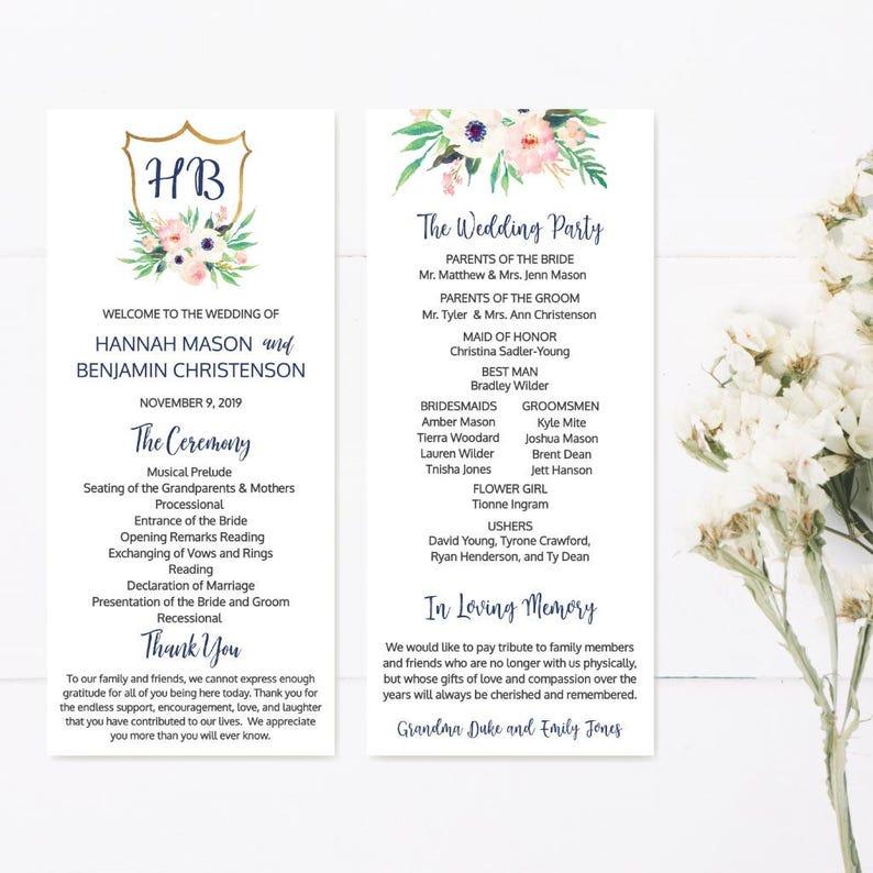 Wedding Program Template Download Wedding Program Thank You Quotes