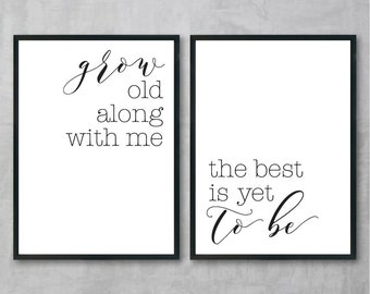 Romantic Wall Art, Calligraphy Print Set, Printable Women Gift, Digital Art Poster, Modern Wall Art, Digital Prints Quotes, Wall Art Set