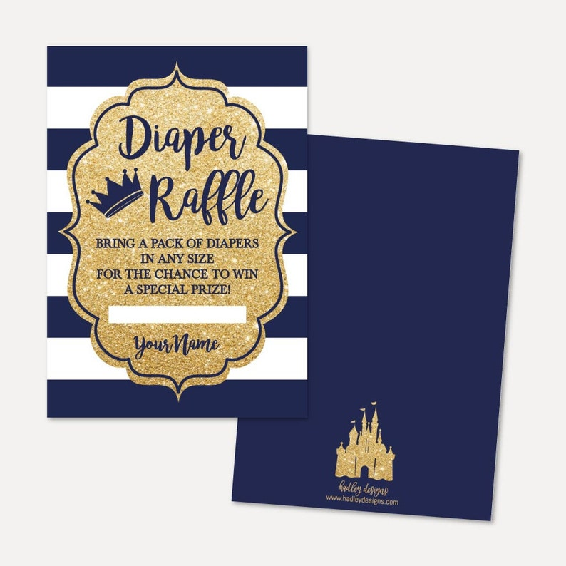 Prince Baby Shower Diaper Raffle Template -Ticket Printable, Diaper Raffle  Instant Download, Diaper Raffle, Hadley Designs