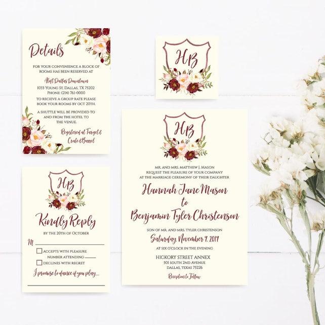 Wedding Invite Printable Invitation Templates Online Best