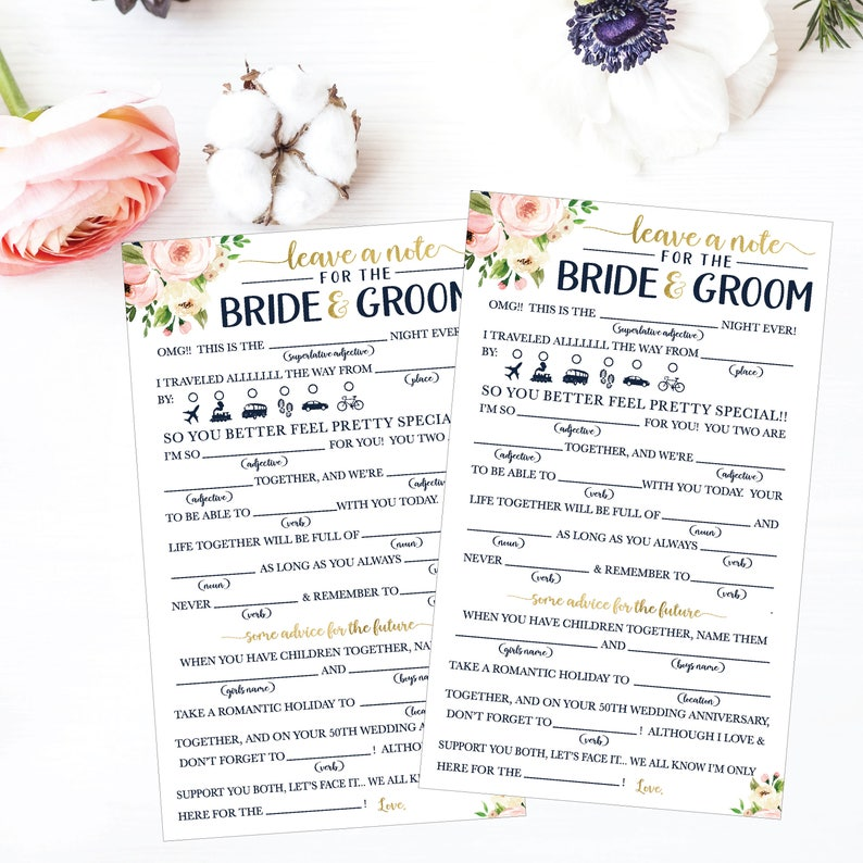 image about Funny Mad Libs Printable named Wedding ceremony Insane Lib Printable, Marriage ceremony Madlibs, Humorous Wedding ceremony Guidance Playing cards, Guidance Card Template For Bridal Shower, Assistance For The Bride Playing cards