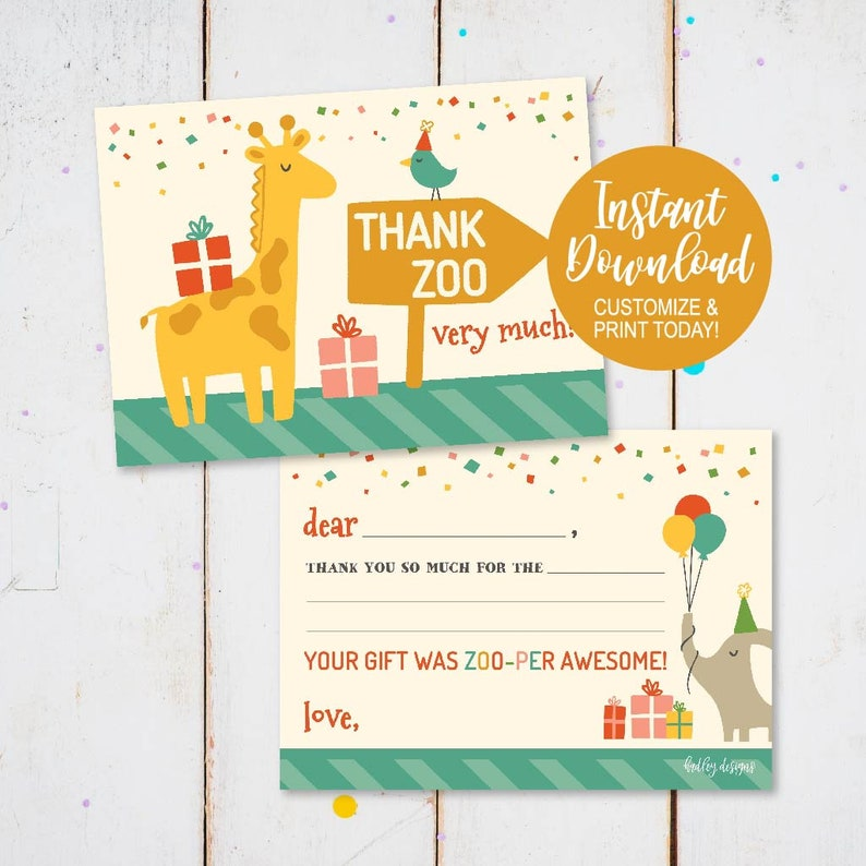 picture relating to Fill in the Blank Thank You Cards Printable identified as Children Fill Within just The Blank Thank Your self Card For Zoo, Printable Thank On your own Be aware, Printable Thank On your own Card For Little ones, Young children Thank On your own Playing cards Birthday