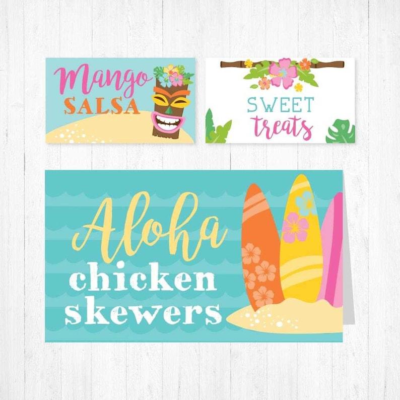 Buffet Cards Template Food Tent Card Template Luau Kids Party Food Tent Cards Luau Party Food Tent Cards Template Food Place Cards