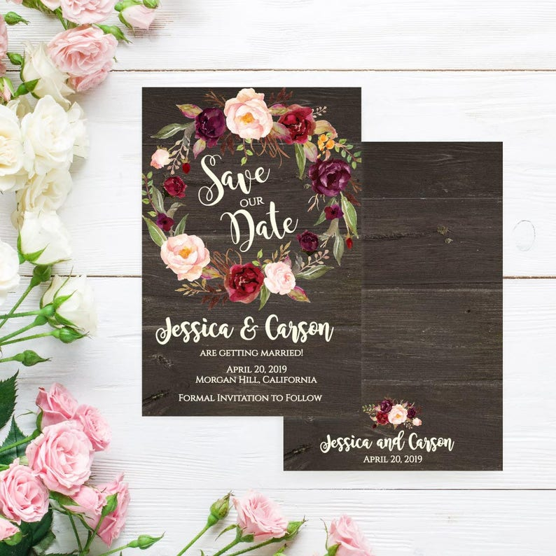 Save The Date Cards Printing Save The Dates Online Invites Etsy