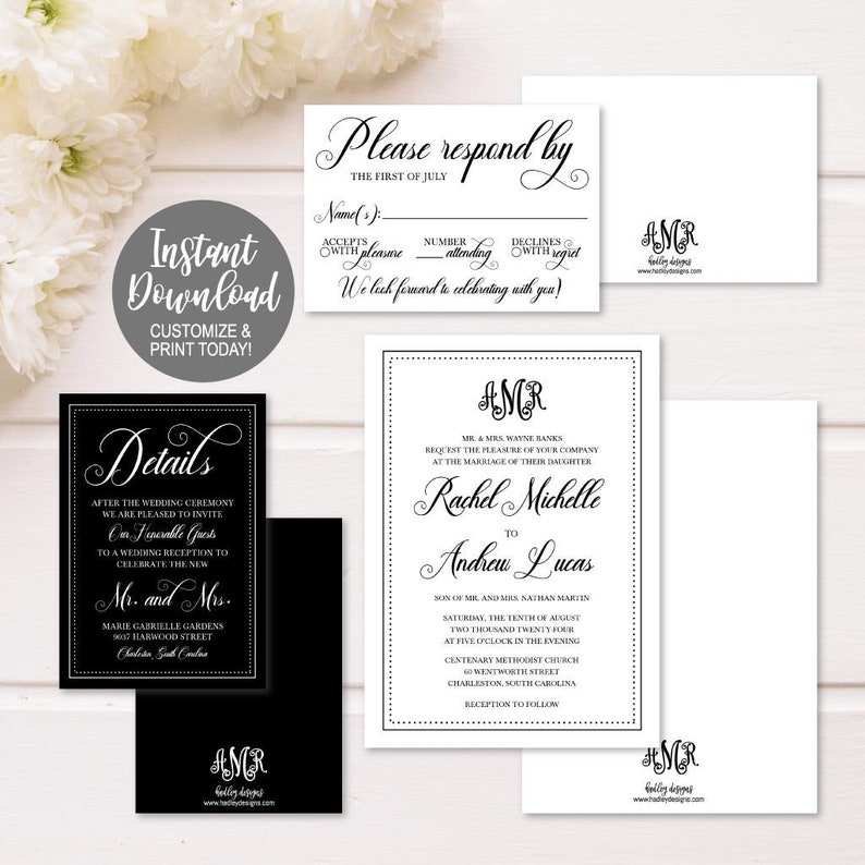 Wedding Invitation Packages.Printable Wedding Invitations Packages Wedding Invitations Sets Cheap Print Diy Wedding Invitations Formal Wedding Invitation Suite