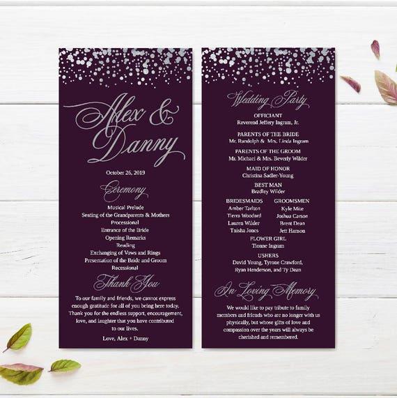Cheap Wedding Programs.Affordable Wedding Programs