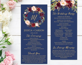 Wedding Program Thank You Messages, Wedding Programs Online Template, Best Wedding Ceremony Programs, Wedding Program Printables Template