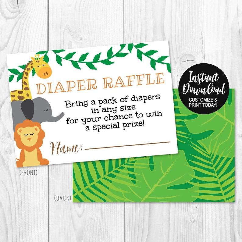 Editable Diaper Raffle Cards Instant Download Diaper Raffle Printable Diaper Raffle Template Printable PDF Diaper Raffle Download