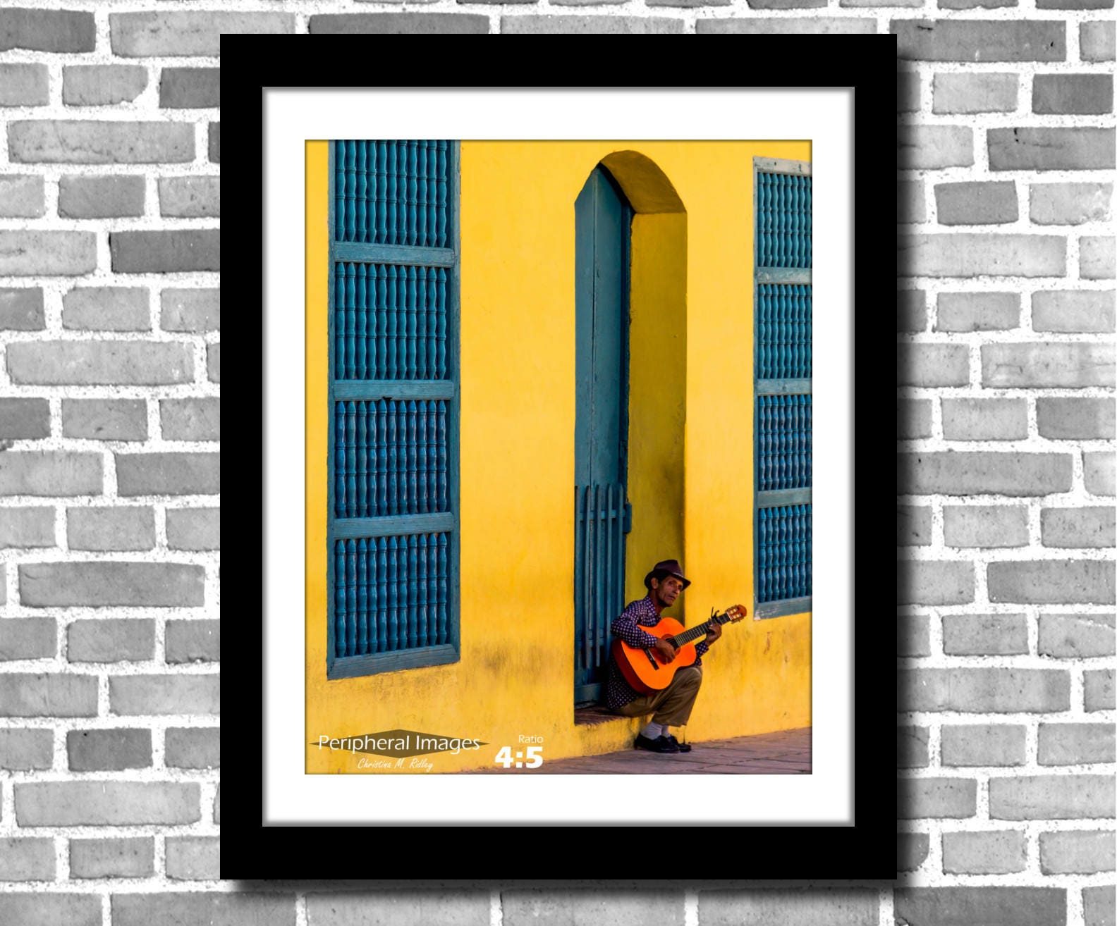 Cuba Photography Cuba Print Art Yellow Blue Wall Art Cuban | Etsy