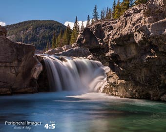 Waterfall Photography, Canadian Landscape Photography, Waterfall Print Art, Waterfall Fine Art Photography; Elbow Falls, Kananaskis, Canada